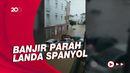Banjir di Spanyol, Mobil-mobil Berserakan Terendam Air