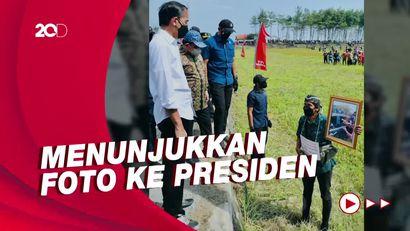Momen Pria Cilacap Lari Hingga Tersungkur Demi Bertemu Jokowi