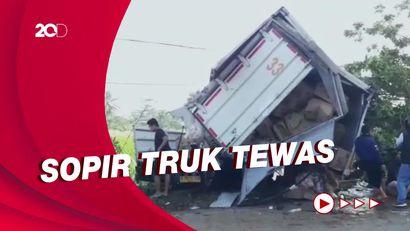 2 Truk Kecelakaan di Jalur Maut Cianjur, Sopir Tewas Terjepit