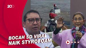 Susi Ajak Fadli Zon Patungan Beri Perahu Bocah Viral Naik Styrofoam