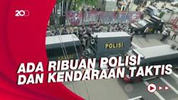 Penampakan Ketatnya Pengamanan KPK Jelang Demo BEM SI