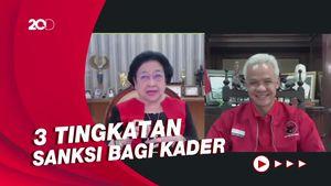 Saat Megawati Bicara Sanksi Pemecatan Kader di Depan Ganjar