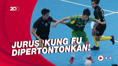 Tensi Tinggi Laga Futsal Jatim Vs Jabar di PON Papua