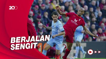 Saling Balas Gol, Liverpool vs City Berakhir Imbang 2-2