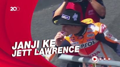 Juara MotoGP Amerika, Marquez Penuhi Janji Makan Donat