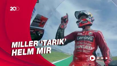Momen Miller Nyaris Hajar Mir Usai Senggolan di MotoGP Amerika