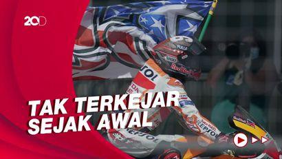 Aksi Marc Marquez Juara MotoGP Amerika, Kemenangan Kedua Musim Ini