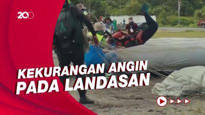Panitia Teledor, Atlet Terjun Payung PON Cedera Saat Landing