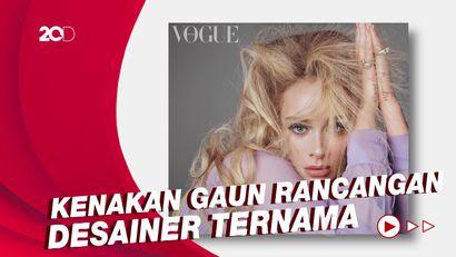 Gaya Adele Tampil di Majalah Vogue Edisi Inggris dan Amerika