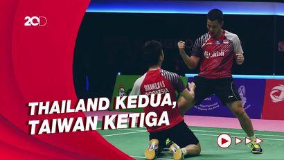 Menang Sempurna Lawan Aljazair, Indonesia Pimpin Grup A Piala Thomas
