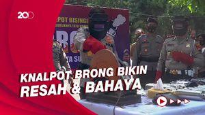 Polresta Solo Gilas Ribuan Knalpot Brong Hasil Sitaan Sejak Maret 2021
