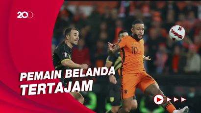 Memphis Depay Ukir Rekor dalam Kemenangan Setengah Lusin Gol Belanda