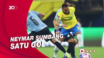 Brasil Gasak Uruguay 4-1, Raphinha Brace