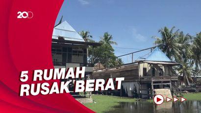 Puluhan Rumah di Polman Rusak Diterjang Puting Beliung, Bupati Cek Lokasi