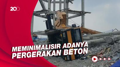 Cerita Kesulitan Damkar Evakuasi Korban Crane Ambruk di Depok