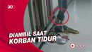 Terekam CCTV, Maling Curi Tas Pedagang Bakso di Masjid
