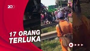 4 Bus Rombongan Peziarah Kecelakaan di Tol Merak, 1 Orang Tewas