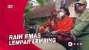 Raih Emas PON Papua, Atlet Asal Banyumas Diarak Keliling Desa