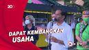 Jokowi Beri Bantuan Modal ke PKL di Tarakan Rp 1,2 Juta