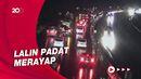 Situasi Malam Ini, Arus Lalin Tol Cipularang Arah Jakarta Padat
