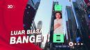 Ekspresi Yura Yunita Lihat Wajahnya Mejeng di Times Square NY