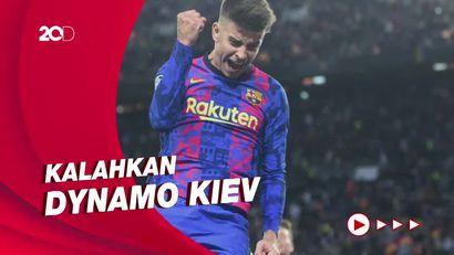 Pique Berikan Kemenangan Pertama Barcelona di Liga Champions