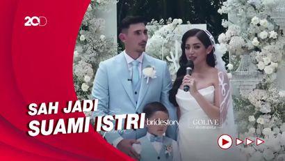 Momen Pemberkatan Pernikahan Jessica Iskandar dan Vincent Verhaag