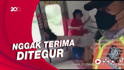 Heboh Lansia Tak Bermasker Ludahi-Pukul Petugas KRL