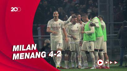 Dua Gol Ibrahimovic Lawan Bologna: Satu ke Gawang Sendiri