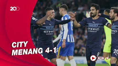 Fakta Kemenangan Telak Man City vs Brighton
