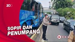 2 Orang Tewas dalam Tabrakan TransJakarta di Cawang
