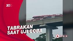 LRT Jabodebek Tabrakan di Cibubur saat Uji Coba!