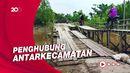 Banyak Korban Terperosok, Jembatan Kayu di Inhil Riau Bikin Warga Waswas