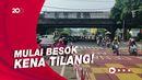 Hari Terakhir Sosialisasi Gage, Puluhan Kendaraan Disetop di Fatmawati Pagi Ini