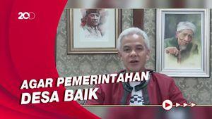 Pesan Ganjar ke Kades Jateng: Jaga Integritas, Hati-hati Korupsi